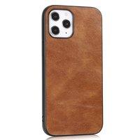 Kunstledertasche in Lederoptik für iPhone 12 und iPhone 12 Pro - braun