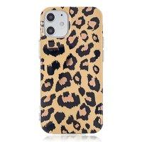 TPU Leopardenmusterhülle für iPhone 12 mini - beige