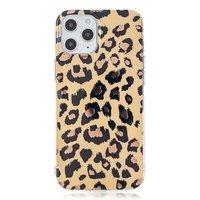 TPU Leopardenmusterhülle für iPhone 12 und iPhone 12 Pro - beige