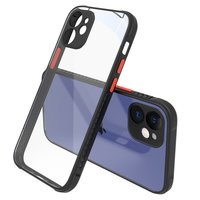 Klare Plastikhülle für iPhone 12 mini - transparent mit schwarz