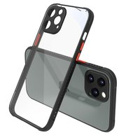 Klare Plastikhülle für iPhone 12 Pro Max - transparent mit schwarz