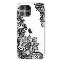 TPU Henna Blumen Fall für iPhone 12 und iPhone 12 Pro - transparent