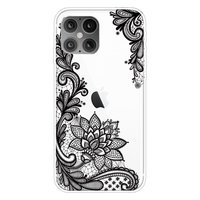 TPU Henna Blumenetui für iPhone 12 mini - transparent