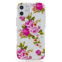 TPU Rose Hülle für iPhone 12 Mini - Weiß