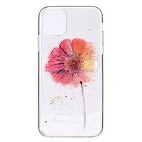 TPU Blumenetui für iPhone 12 und iPhone 12 Pro - transparent