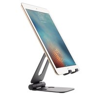 Universeller faltbarer Desktop-Telefonhalter aus Aluminium Smartphone und Tablet - Schwarz
