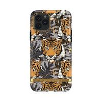 Richmond & Finch Tropical Tiger robuste Plastikhülle für iPhone 11 Pro - grau mit orange