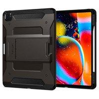 Spigen Tough Armor Kunststoff Carbon mit Luftkissenbezug für iPad Pro 12,9 Zoll (2020) - schwarz