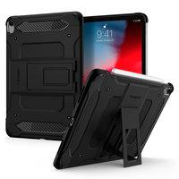 Spigen Tough Armor Kunststoff Carbon mit Luftkissenbezug für iPad Pro 11 Zoll (2020) - schwarz
