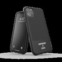 Superdry Moulded Case Canvas Kunststoffhülle für iPhone 11 Pro Max - schwarz