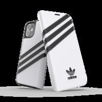 adidas Originals Kunstledertasche für iPhone 12 mini - weiß mit schwarz