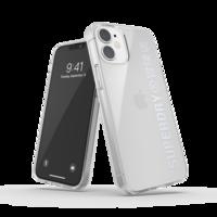 Superdry Snap Case Klare Plastikhülle für iPhone 12 mini - transparentes Silber