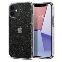 Spigen Liquid Crystal Air Cushion Technology Hülle für iPhone 12 mini - transparenten Glitzer