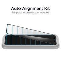 Spigen AlignMaster Glasschutz und Montagehilfe iPhone 11 Pro Max und XS Max - Black Edge