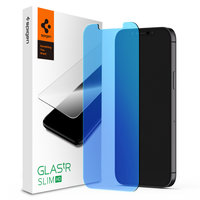 Spigen Glass Protector Anti Blaulicht iPhone 12 und 12 Pro - Schutz