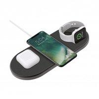 XQISIT Wireless Charging Pad Ladestation mit Apple Watch Ladegerät Qi - 3 Ladepunkte