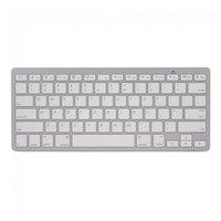Weiße Bluetooth-Tastatur drahtlose QWERTZ-Tastatur