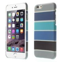 Im Dunkeln leuchtende iPhone 6 / 6s Hülle - Blaugrau gestreifte Hülle