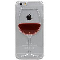 Weinetui iPhone 6 Plus und 6s Plus transparente Abdeckung Weinglas Hartschale