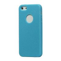 Robuste Fingerabdruckhülle iPhone 5 5s SE 2016 Hellblaue Silikonhülle