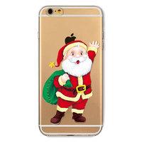 Weihnachtshülle iPhone 6 Plus 6s Plus Weihnachtshülle Silikon TPU Santa Abdeckung