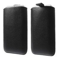 Schwarze Einsatzhülle Leder iPhone 6 6s 7 8 PLUS Ledereinsatzhülle