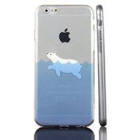 Eisbär Hülle iPhone 6 Plus 6s Plus Eisbär TPU transparente Hülle