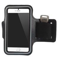 Schwarzer Laufreifen iPhone 6 6s 7 8 SE 2020 Sport Armband - Sportband - Schwarz