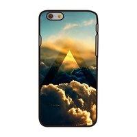 Cloud Hülle iPhone 6 6s Schwarze Hartschale mit Cloud Design Sunlight