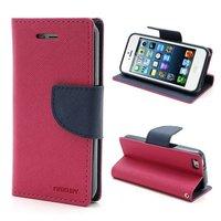 Brieftasche Etui rosa Mercury Goospery Bücherregal Abdeckung iPhone 5 5s SE 2016 - Brieftasche