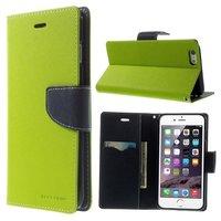 Mercury Goospery Green Wallet Bücherregal iPhone 6 Plus 6s Plus Wallet Case