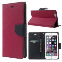 Brieftasche rosa Mercury Goospery Bücherregal iPhone 6 Plus 6s Plus Brieftasche