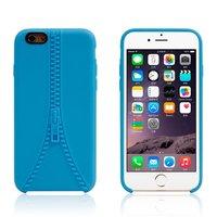 Robuste Hülle mit nachgeahmtem Reißverschluss iPhone 6 6s Blaue Silikonhülle