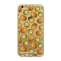 Transparente Kiwi Hülle iPhone 6 6s TPU Silikonhülle Frucht transparente grüne Kiwis