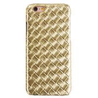 Luxus goldene Hartschale iPhone 6 6s gewebte 3D-Struktur Robuste Abdeckung