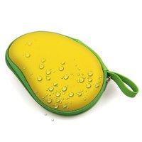 Aufbewahrungsbox für Ohren Mango-Form Schutzbox-Ohrstöpsel Gelbgrün