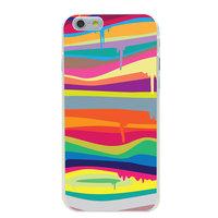 Bunte Hartschalenhülle iPhone 6 Plus 6s Plus Regenbogenfarbhülle Lackdesign