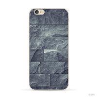 Grau Blau Naturstein Hülle für iPhone 5 / 5s und SE 2016 Silikonhülle Stein Hülle