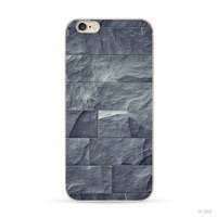 Natursteinhülle grau-blau iPhone 6 6s Silikonhülle Steinhülle