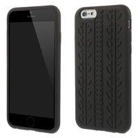 Schwarze Autoreifenabdeckung iPhone 6 Plus iPhone 6s Plus Silikon-Autokettenabdeckung