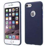 Feste blaue Silikonhülle iPhone 7 8 Blaue Hülle Blaue Hülle