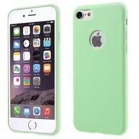 Feste grüne Silikonhülle iPhone 7 8 Grüne Abdeckung Grüne Hülle