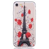 Transparente Pariser Hülle iPhone 7 8 SE 2020 Silikonhülle Paris Eiffelturm