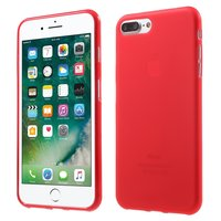 Rote Silikonhülle iPhone 7 Plus 8 Plus Rote Abdeckung solide rote Hülle