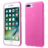 Feste rosa Hülle iPhone 7 Plus 8 Plus Rosa Hülle Silikonhülle
