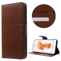 Braune Brieftasche Bücherregalhülle iPhone 7 Plus 8 Plus Brieftasche Lederhülle