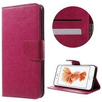 Rosa Brieftasche Bücherregalhülle iPhone 7 Plus 8 Plus Brieftaschenetui Lederbezug