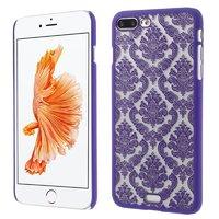 Lila Hardcase Henna-Muster iPhone 7 Plus 8 Plus transparente Abdeckung