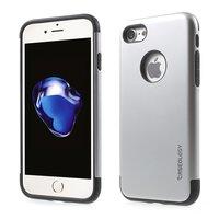 Caseology Silberhülle iPhone 7 8 Silber TPU Silikonhülle Schwarze Abdeckung