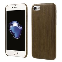 Silikon Holzetui iPhone 7 8 SE 2020 TPU-Holzabdeckung Dunkles Holzimitat
